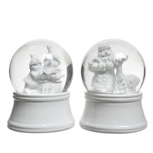 Boules à neige blanches - Ø6,5 cm 410594
