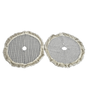 Jupe pour sapin grise - 90x3 cm 410628