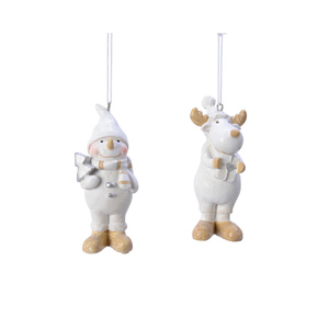 Figurine de Noël à suspendre Blanc 410642