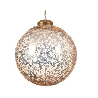Boule de Noël énorme en verre Forme ronde Laiton Or Ø 15 cm 410684