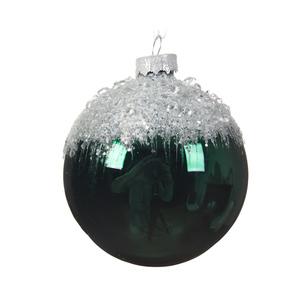 Boule de Noël énorme en verre Forme ronde Vert Ø 18 cm 410687