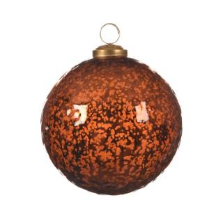 Boule de Noël énorme en verre Forme Larme Rouille Ø 18 cm 410688
