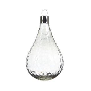 Boule de Noël énorme en verre Forme larme Transparent 28 cm 410690
