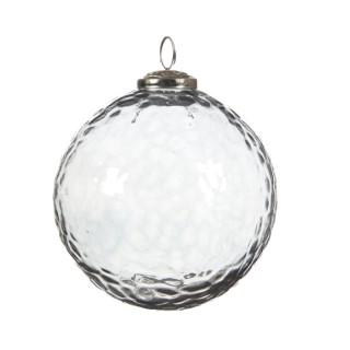 Boule de Noël énorme en verre Forme ronde Transparent Ø 15 cm 410693