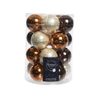 Boules en verre mix marron Ø 6 cm en boite de 20 410788