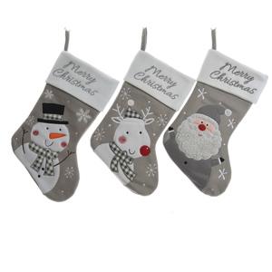 Chaussettes à suspendre grises et blanches - 25x1x40 cm 410856
