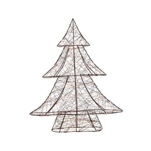 Sapin en fil marron à micro LED 8 x 33 x 40 cm 410878