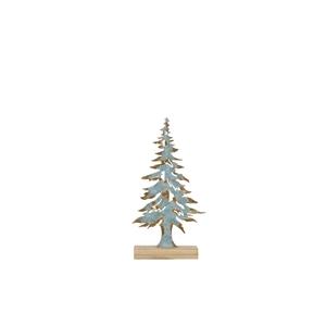 Sapin décoratif en bois bleu 20 x 8 x 40 cm 411308