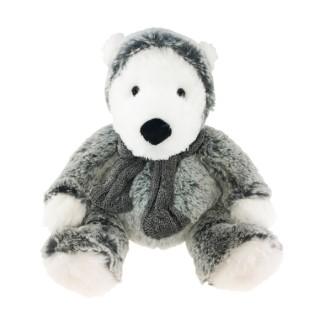 Ours écru avec capuche polaire – 25 cm de haut 411642