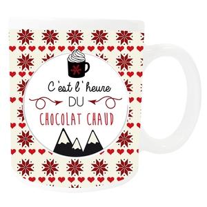 Mug chocolat chaud  - 8x9.5 cm 411654