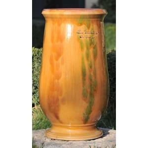 Jarre à huile flammée en terre cuite émaillée H 71 x Ø 40 cm 41305