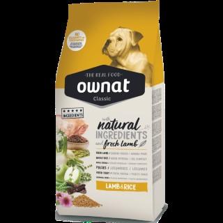 Croquettes pour chien Ownat Classic Lamb & Rice - 15 kg 413167
