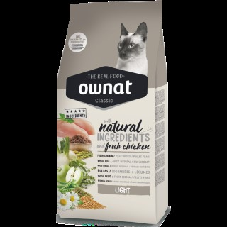 Croquettes pour chat Ownat Classic Light Cat - 1,5 kg 413186
