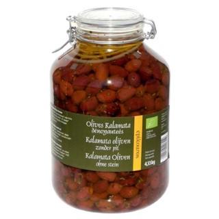 Olives kalamata noires dénoyautées en bocal de 4,55 kg 413412