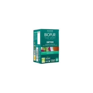 Thé vert détox bio en boite de 20 sachets 413640