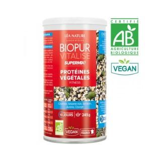 Supermix protéines végétales fitness vitalise bio en boite 245 g 413675