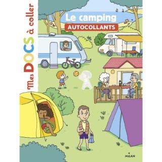 Le Camping Mes Docs à Coller dès 3 ans Éditions Milan 413808