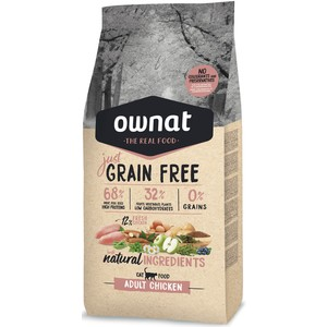 Ownat grain free just adult chicken cat 3kg 413897