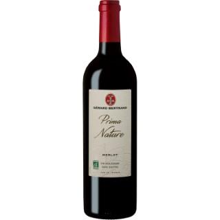Vin rouge bio Prima Nature IGP Pays d'Oc Merlot vegan sans sulfite 75 cl 414282