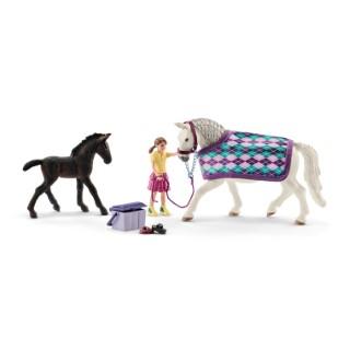 Figurines Soins pour les Lipizzans Série Horse club 19x6,8x11,5 cm 414295