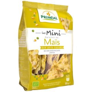 Mini galette maïs pois cassé en sachet de 90 g 415143