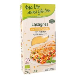 Lasagnes lentilles jaunes bio en boîte de 250 g 415148