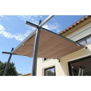 Toile d'ombrage coulissante T22 pour tonnelle Solea 300 x 400 cm 415190