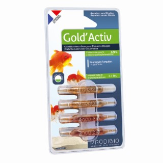 Conditionneur d'eau gold'activ nano multicolore en ampoule x 4 415314