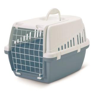 Panier de transport bleu pour chat et petit chien 415409