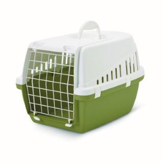 Panier de transport vert pour chat et petit chien 415411