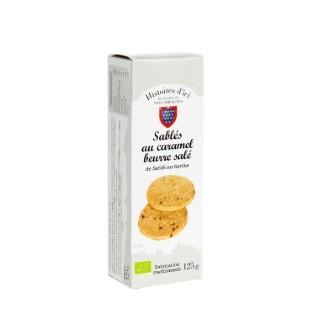 Sablés au caramel beurre salé bio Histoire d'ici 125g  415452