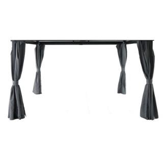 Table de jardin extensible Evo EMU Marron d\'Inde 180/240 x 90 x 75 ...
