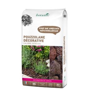 Pouzzolane rouge pour jardin de calibre 20 à 50 mm en sac de 20 L 416026