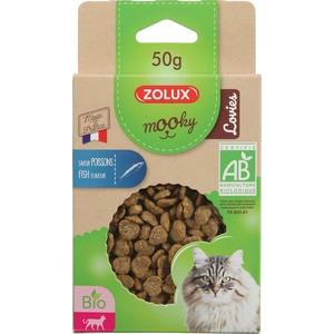 Friandises pour chat Mooky bio Lovies au poisson en étui de 50 g 416044