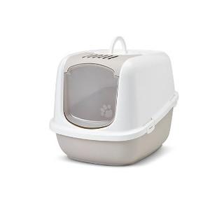 Maison de toilette pour chat Nestor Jumbo beige 416371