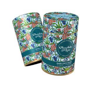 Assortiment de petits chocolats noirs aromatisés en boîte Chocolate and Love - 30 x 5,5 g 416398