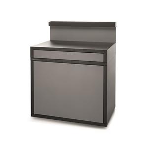 Support desserte en acier fermé noir et gris de 90 x 64,5 x 112,8 cm 416993