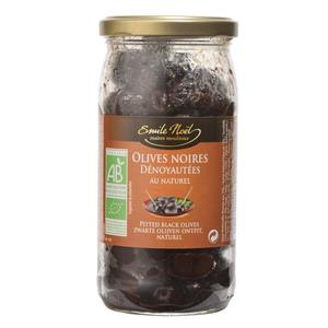 Olives noires dénoyautées en bocal de 190 g 417432
