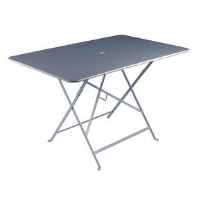 Table pliante Bistro Fermob en acier coloris gris orage 117 x 77 x 74 cm 417597