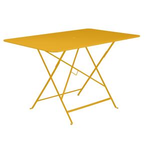 Table pliante Bistro Fermob en acier coloris miel 117 x 77 x 74 cm 417601