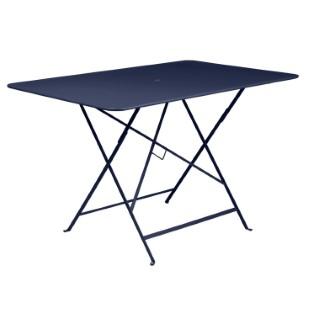 Table pliante Bistro Fermob en acier coloris bleu abysse 117 x 77 x 74 cm 417604