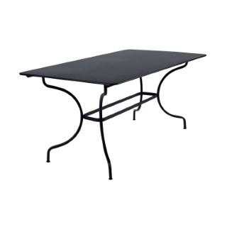 Table Manosque Fermob en acier coloris carbone 160 x 90 x 74 cm 417608