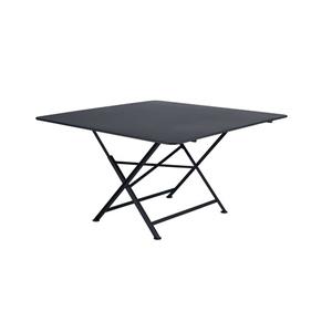 Table pliante Cargo coloris noir carbone de 128 x 128 x 74 cm 417644