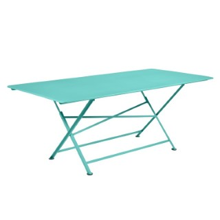 Table de jardin Cargo FERMOB Bleu lagune L190xl90xh74 417687