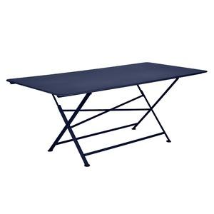 Table de jardin Cargo FERMOB Bleu abysse L190xl90xh74 417691
