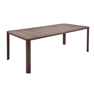 Table Oleron en aluminium coloris Rouille de 205 x 100 x 74 cm 417715