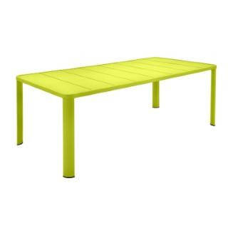 Table Oleron en aluminium coloris Verveine de 205 x 100 x 74 cm 417719