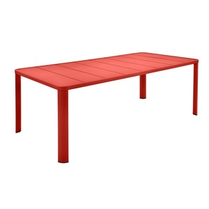 Table Oleron en aluminium coloris Capucine de 205 x 100 x 74 cm 417725