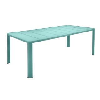 Table Oleron en aluminium coloris Bleu lagune de 205 x 100 x 74 cm 417726