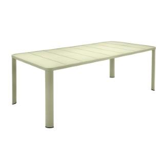 Table Oleron en aluminium coloris Tilleul de 205 x 100 x 74 cm 417734